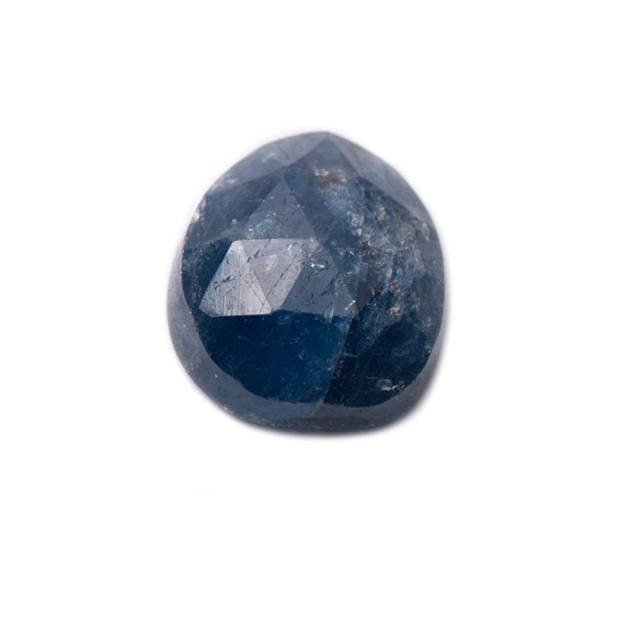 Sapphire Rose Cut Freeform Slice, Approx 8x6.5mm