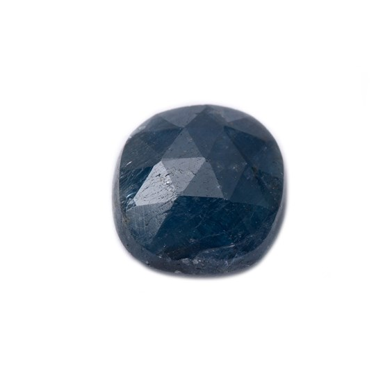 Sapphire Rose Cut Freeform Slice, Approx 8.5x8mm