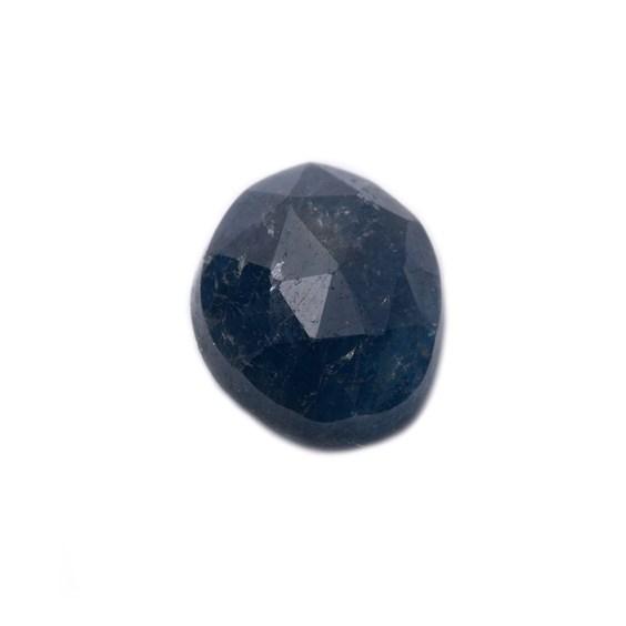 Sapphire Rose Cut Freeform Slice, Approx 8x6.5mm