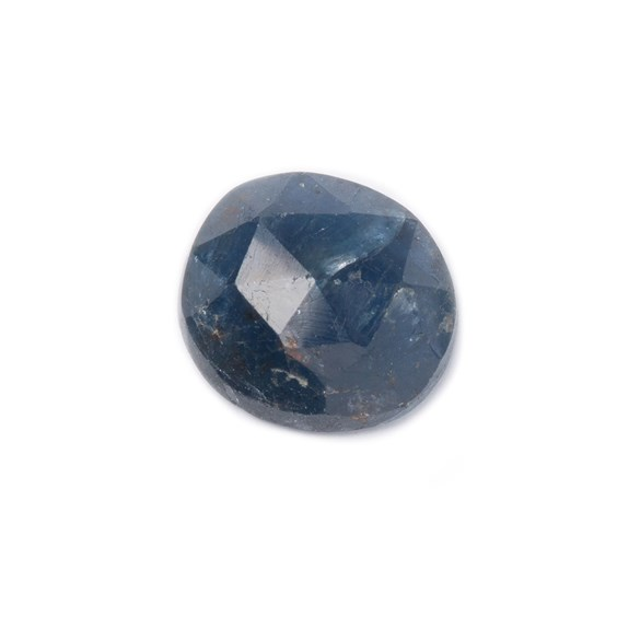 Sapphire Rose Cut Freeform Slice, Approx 8x7.5mm