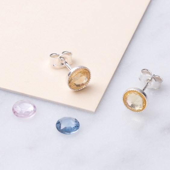 Yellow Sapphire Earstuds