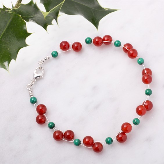 Christmas Berry Bracelet