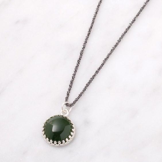 Sparkly Nephrite Jade Necklace