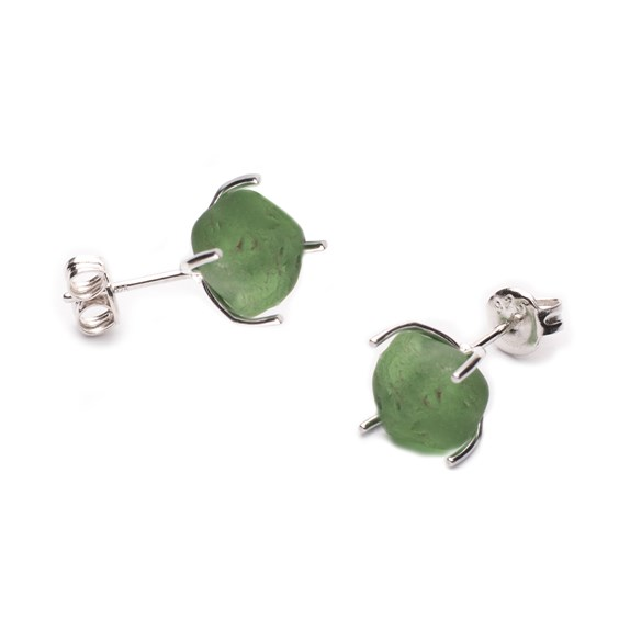 huggie sea glass claw earring settings