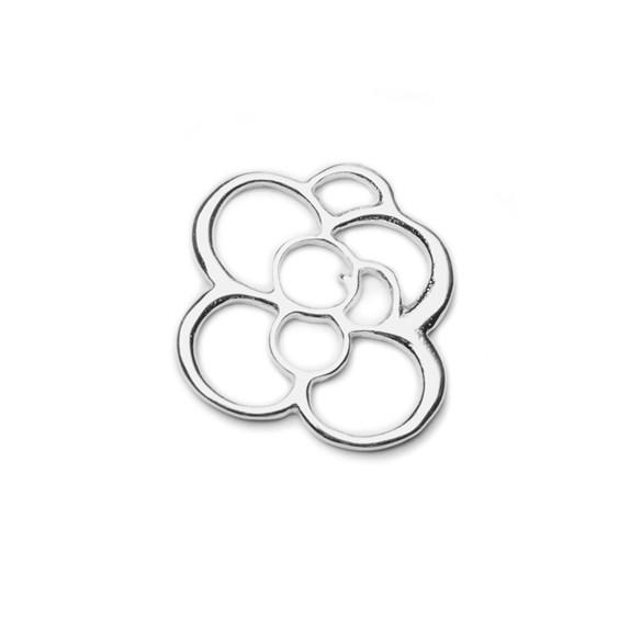 Sterling Silver Rose Connector Link