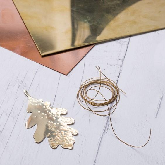 how to make metal leaf decoration