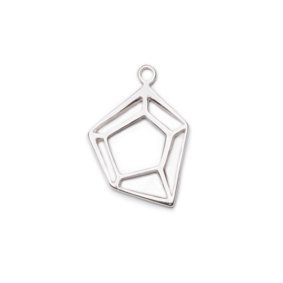 Sterling Silver Medium Geometric Pendant Charm