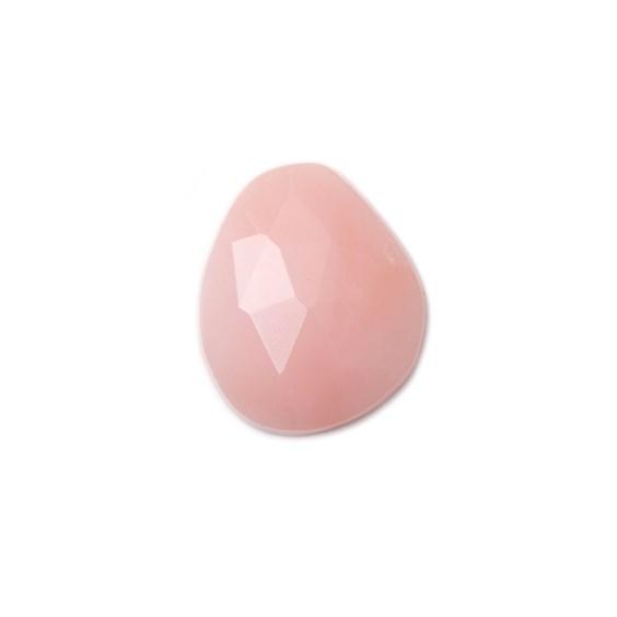 Pink Opal Rose Cut Freeform Slice, Approx 11x9.5mm