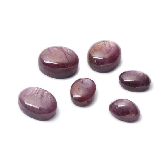 Ruby Star Cabochon Stones