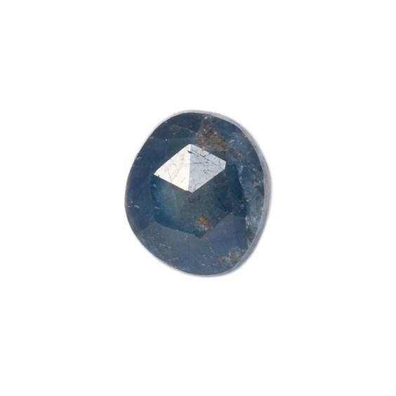 Sapphire Rose Cut Freeform Slice, Approx 8.5x7.5mm