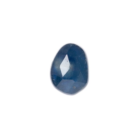 Sapphire Rose Cut Freeform Slice, Approx 8.5x6.5mm