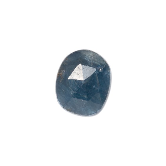 Sapphire Rose Cut Freeform Slice, Approx 9x7.5mm