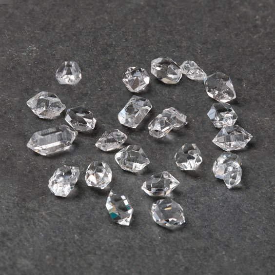 Herkimer 'Diamond' Undrilled Natural Crystals, Approx 1 Gram Pack