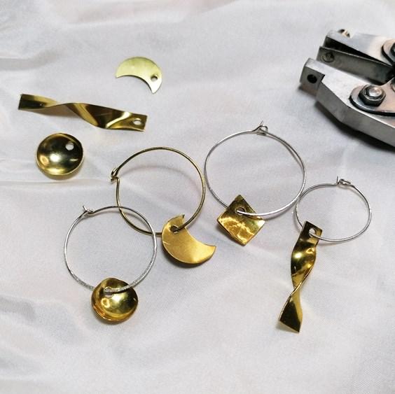 charm hoop earring tutorial