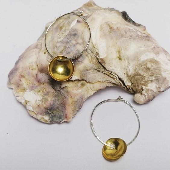 domed disc earrings