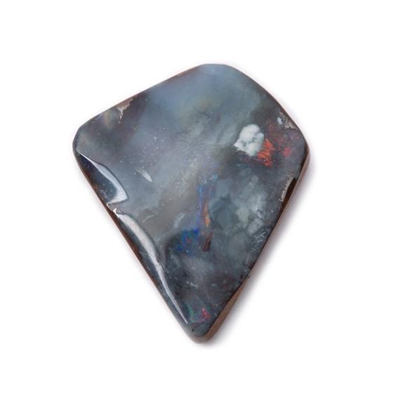 Freeform Australian Boulder Opal, Approx 14.5x12mm