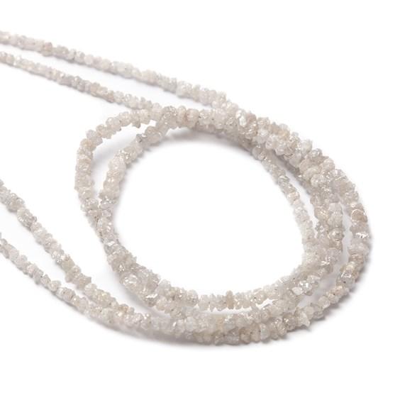 White Diamond Natural Rough Nugget Beads