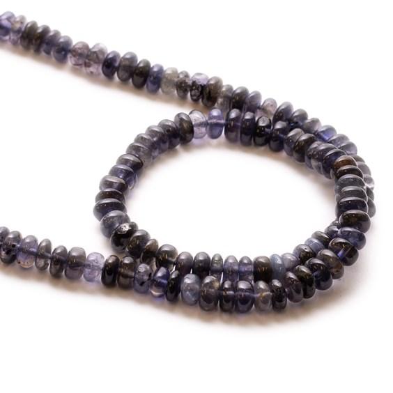 Iolite Rondelle Beads