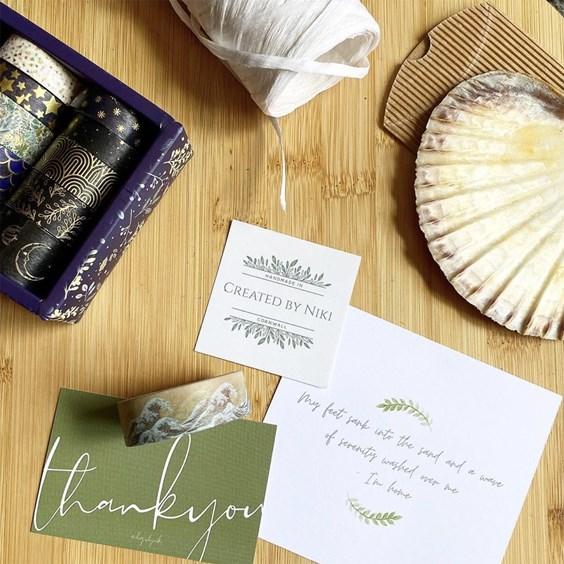 sea glass jewellery packaging