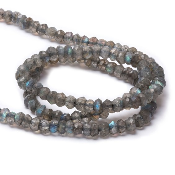 Labradorite Faceted Rondelle Beads