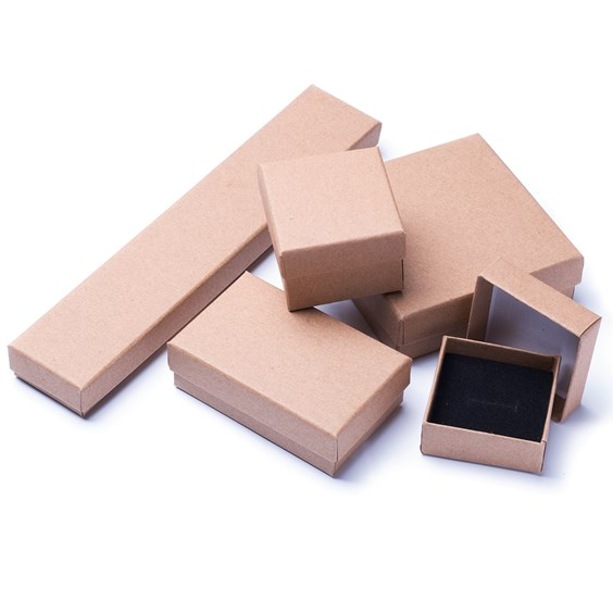 Natural Recyclable Brown Kraft Jewellery Boxes