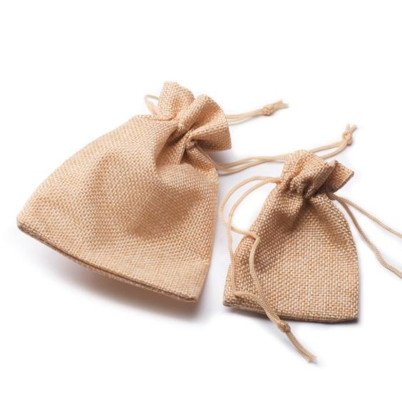 Jute Effect Drawstring Gift Bags
