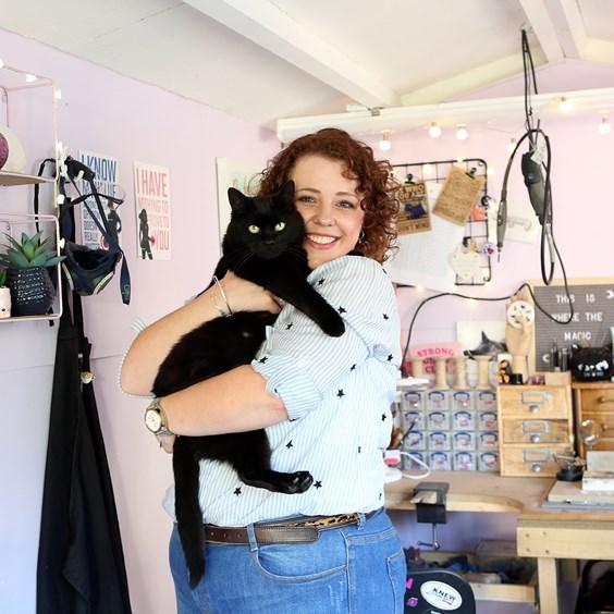 Little Black Cat Jewellery garden studio