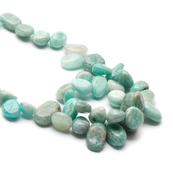 Peruvian Amazonite Pebble Beads