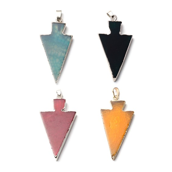 Ready To Wear Agate Arrow Pendants