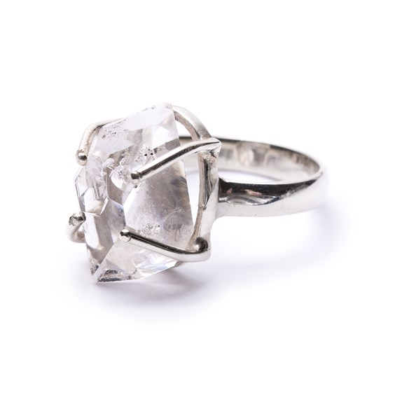 Ready To Wear Sterling Silver Herkimer 'Diamond' Ring