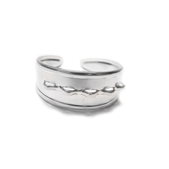 Sterling Silver Adjustable Loop Ring with 5 Loops