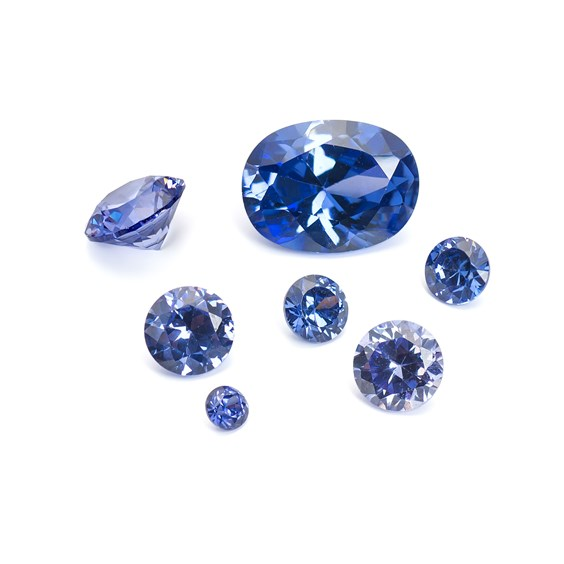 Tanzanite Coloured Cubic Zirconia Faceted Stones