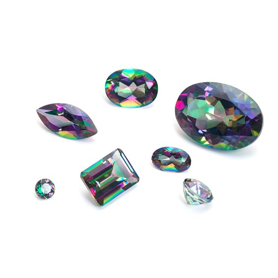Mystic Fire Topaz Faceted Stones