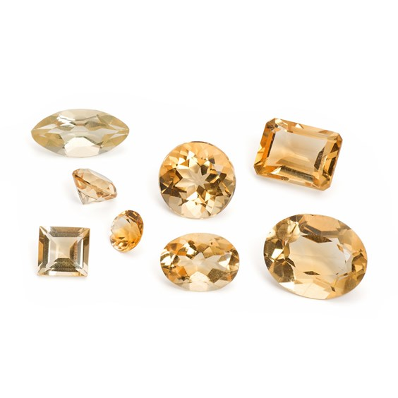 Citrine Faceted Stones