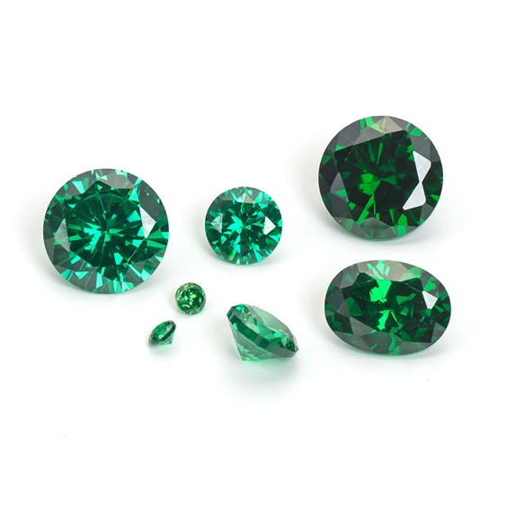 Emerald Coloured Cubic Zirconia Faceted Stones