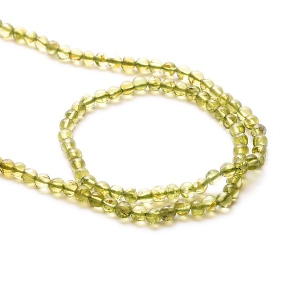 Peridot Round Beads, 3.5mm