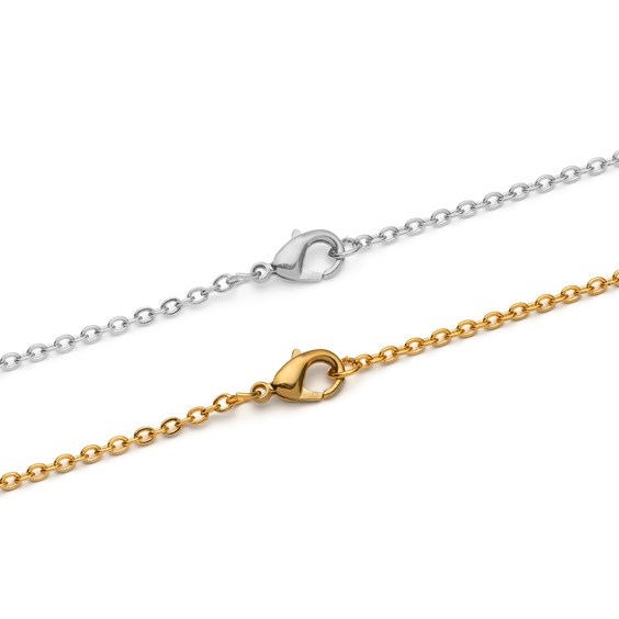 Plated Trace Chain, 45cm Necklet