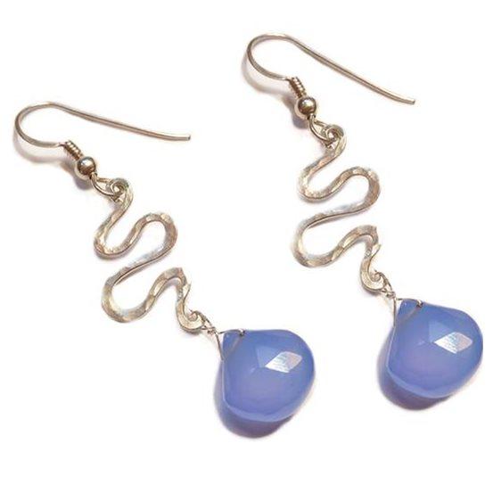 Silver Stream Drop Earrings