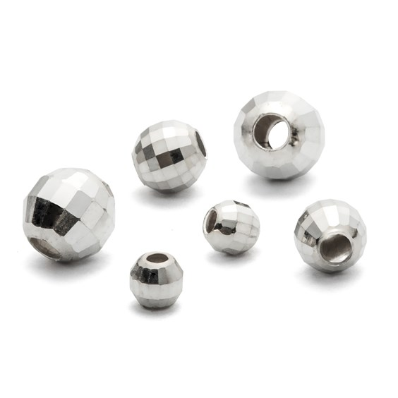 Sterling Silver Disco Beads