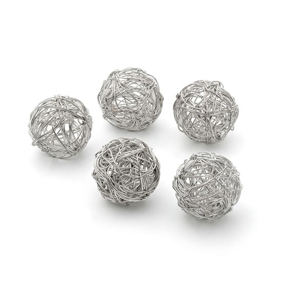 Silver Plated Tumbleweed Wire Beads, Approx 20mm