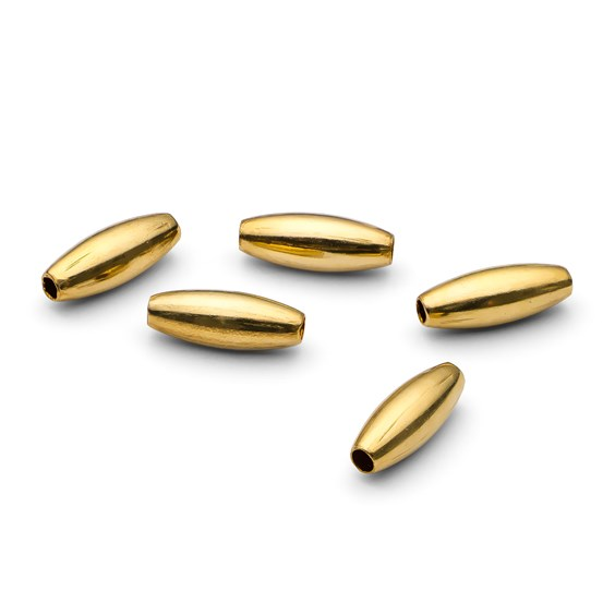 Gold Filled Plain Oval Beads, Approx 6.5x2.5mm