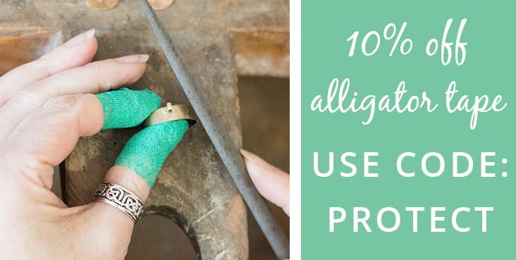 10% off alligator tape
