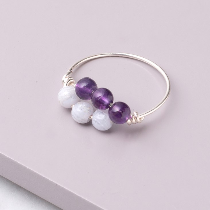 how to make a wire wrapped bead ring