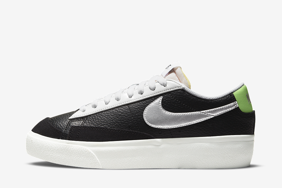 A Pitch-Black Upper And Chrome Details Are Just The Start Of This Bold Nike Blazer Low Platform
