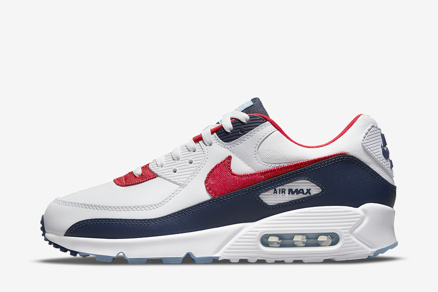 Nike Air Max 90 White Red Blue DJ5170-100 | SneakerNews.com