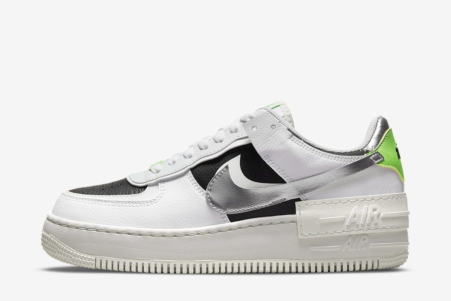 Chrome Swooshes Stand Out On This Nike Air Force 1 Low Shadow