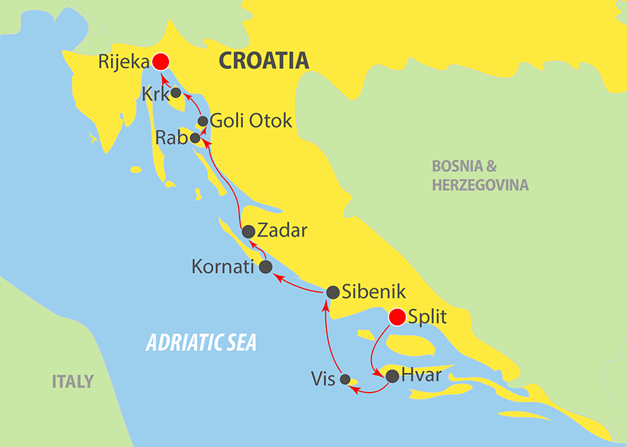 K241 Adriatic Cruise Map