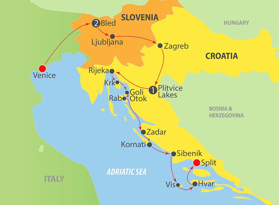 K248 Adriatic Cruise Map