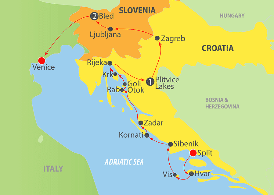 K251 Adriatic Cruise Map
