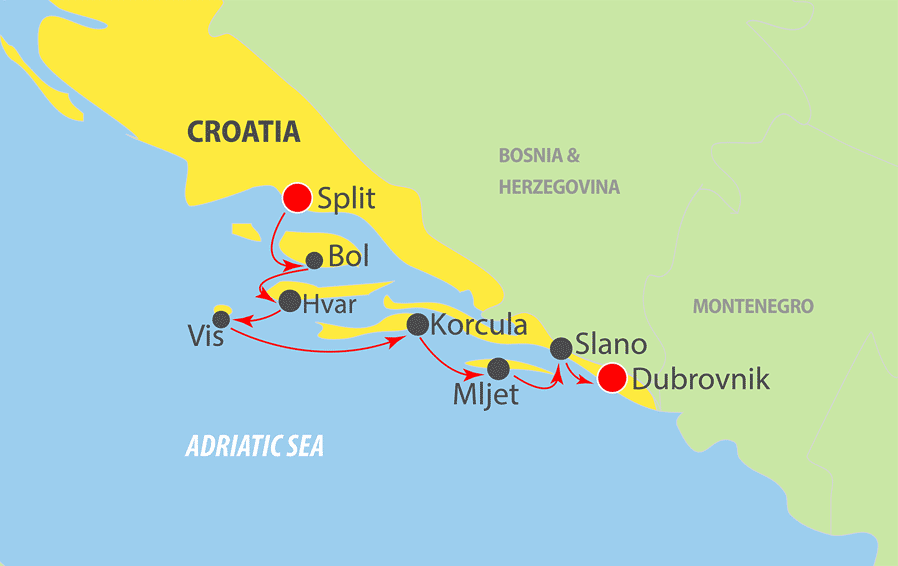 A610 Adriatic Cruise Map